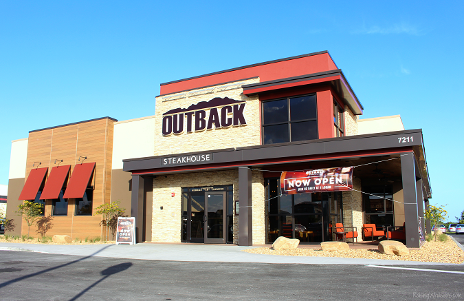Outback viera now open new design familiar food