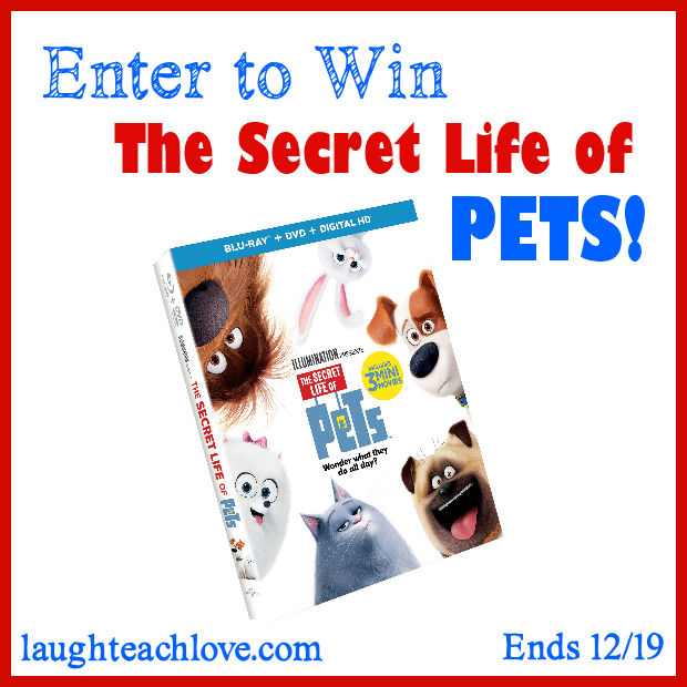 Secret life of pets blu-ray giveaway