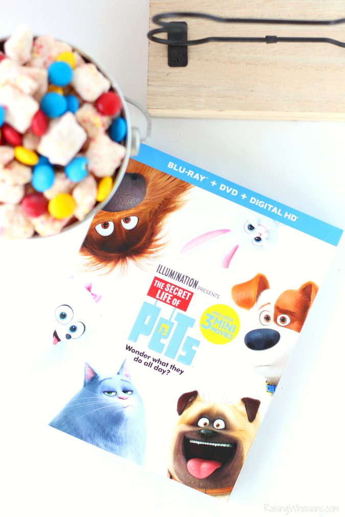 The secret life of pets party The Secret Life of Pets Puppy Chow & Family Movie Night Ideas | Make an easy The Secret Life of Pets inspired snack + ideas for a pet inspired movie party #PartyPlanning #Recipe