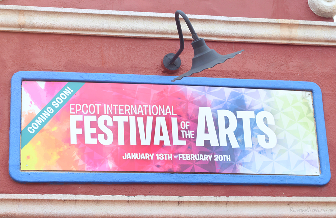 2017 Epcot festival of the arts family guide