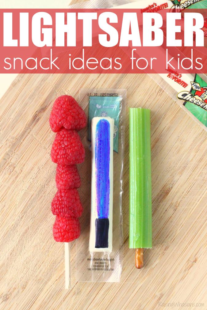 Healthy lightsaber snack ideas for kids