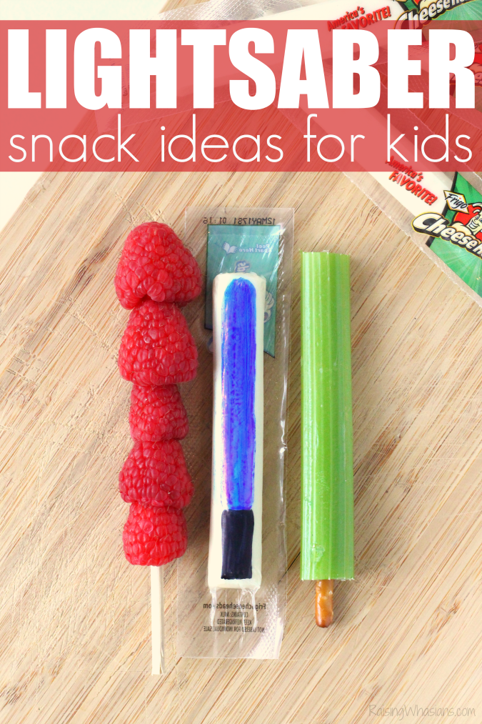 Healthy lightsaber snacks ideas