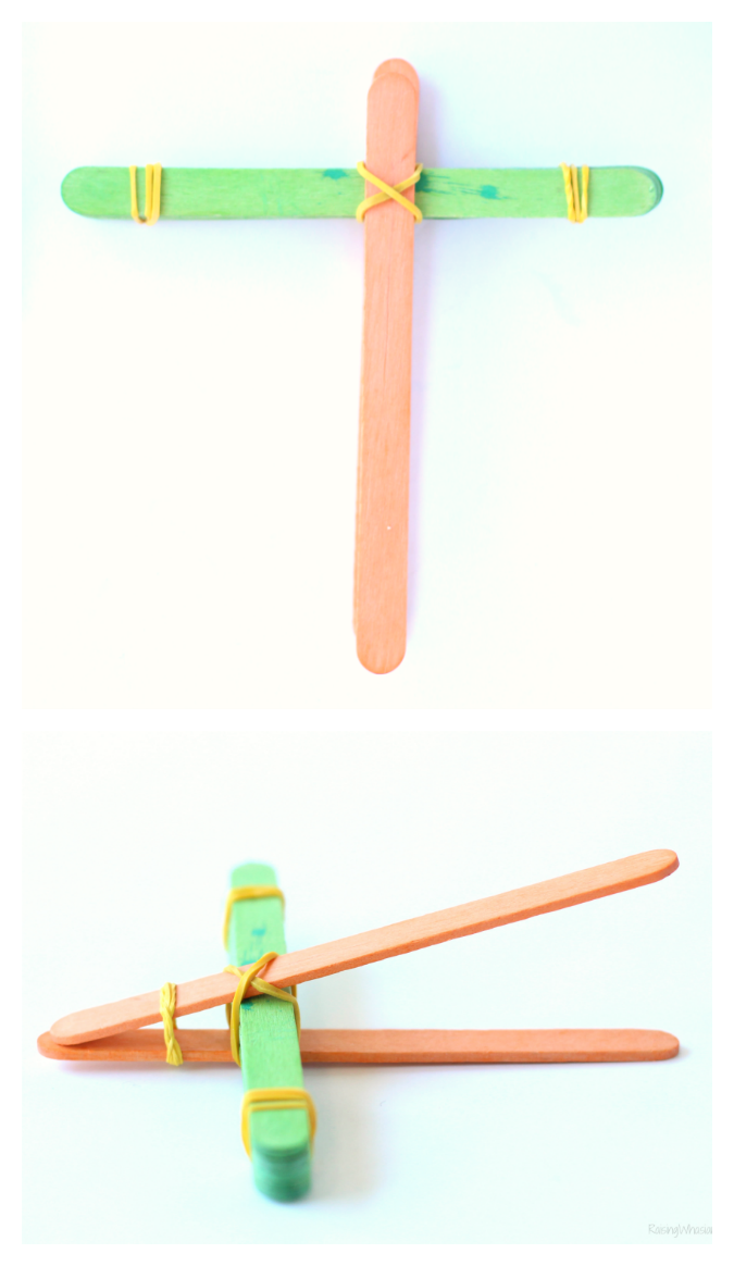 STEM catapult kids craft