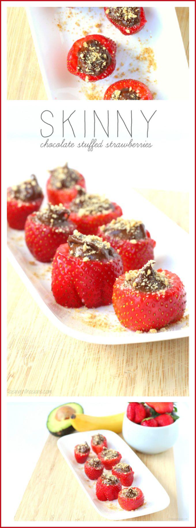 Skinny chocolate stuffed strawberries pinterest