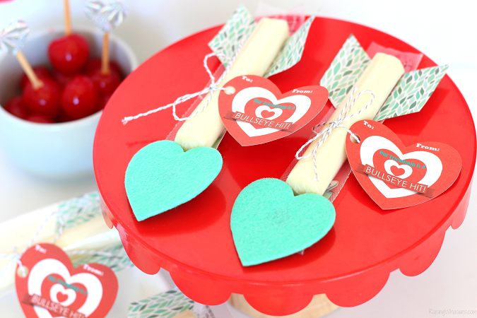 String cheese valentine arrows
