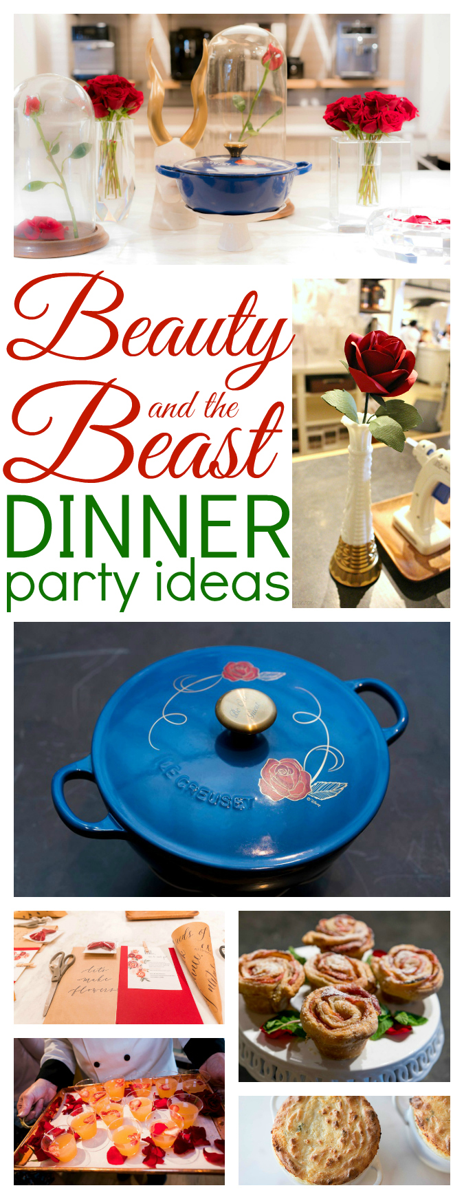 Beauty and the beast dinner party ideas