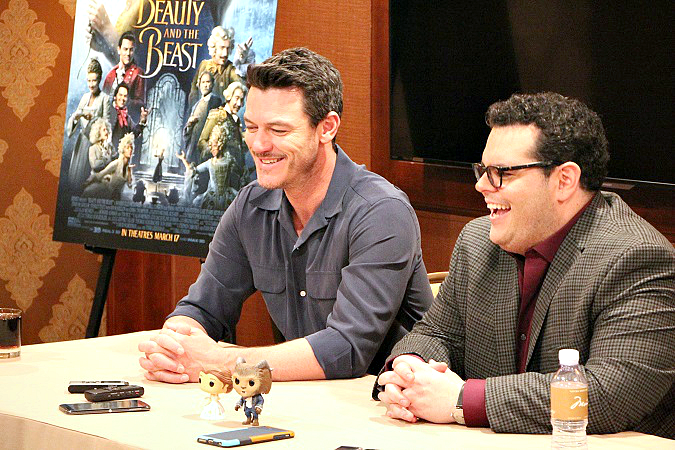Luke Evans Josh Gad interview beauty and the beast