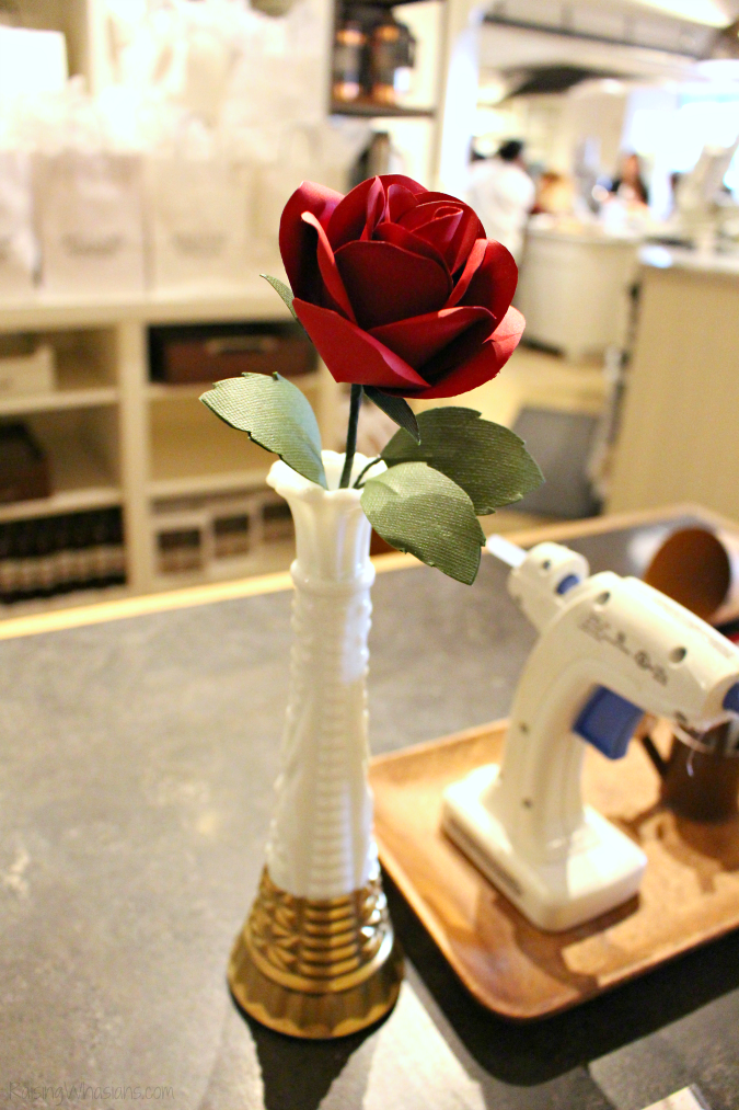 Paper rose beauty and the beast craft