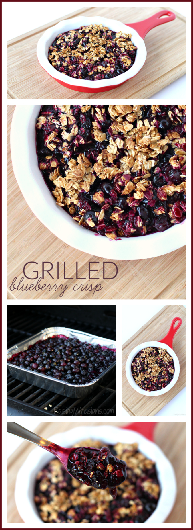 Easy grilled blueberry crisp pinterest