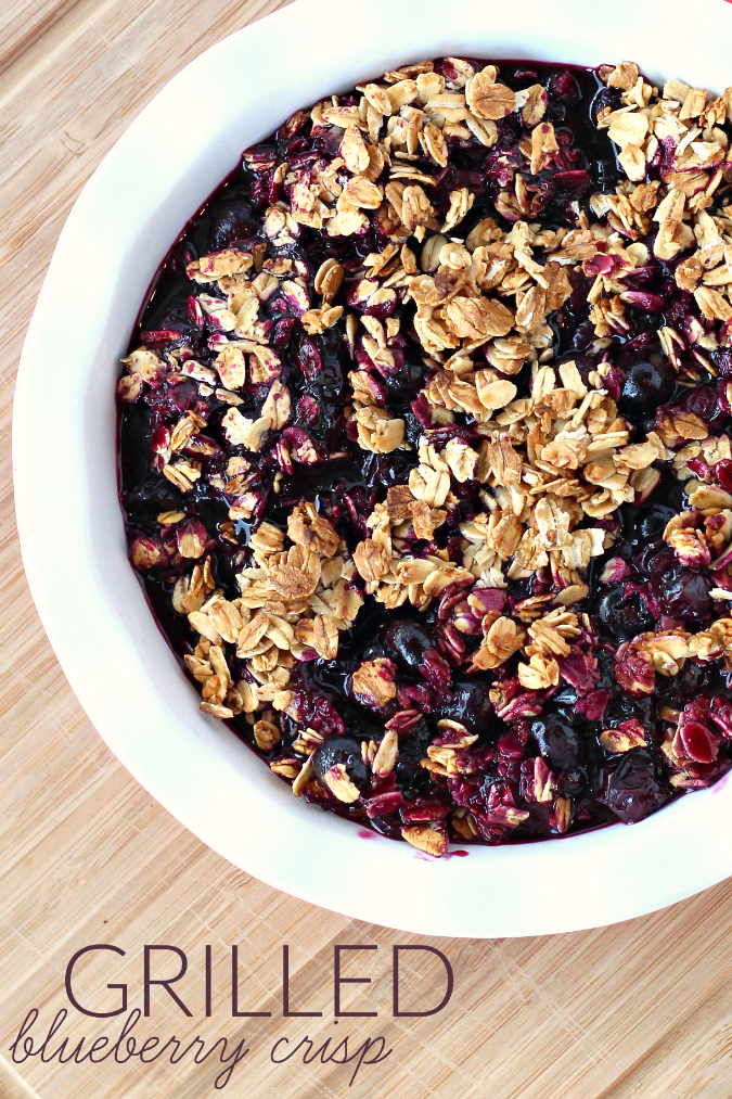 Easy Grilled Blueberry Crisp Recipe - Raising Whasians