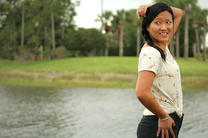 Florida style flamingo tee lucky brand