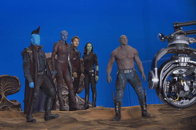 Guardians 2 movie set visit