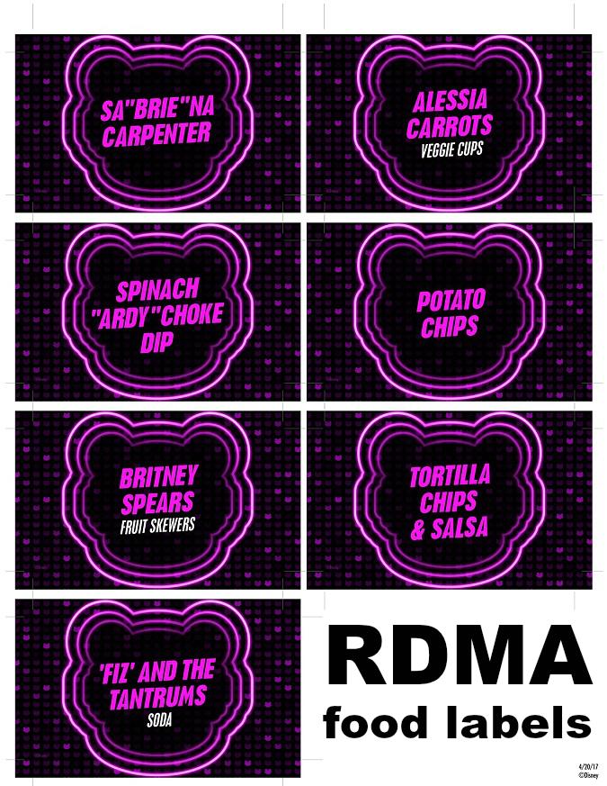 Radio Disney music awards party printable