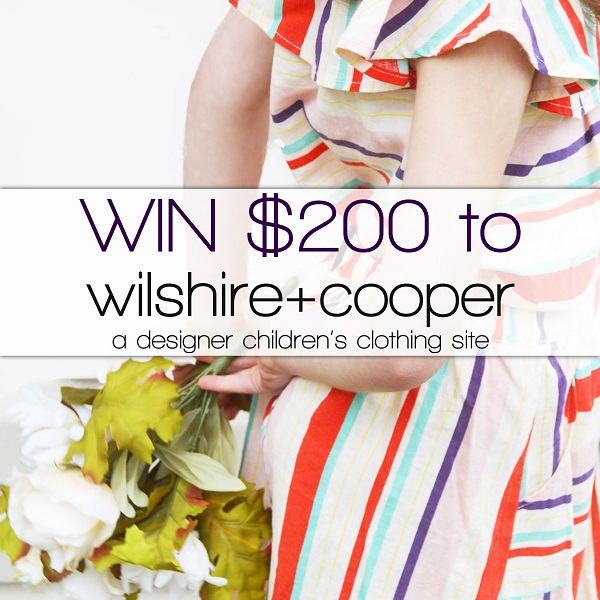Wilshire + cooper kids clothing giveaway