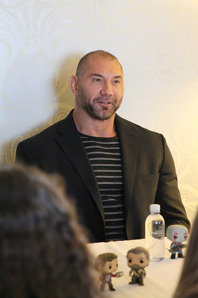 Dave Bautista interview guardians of the galaxy 2