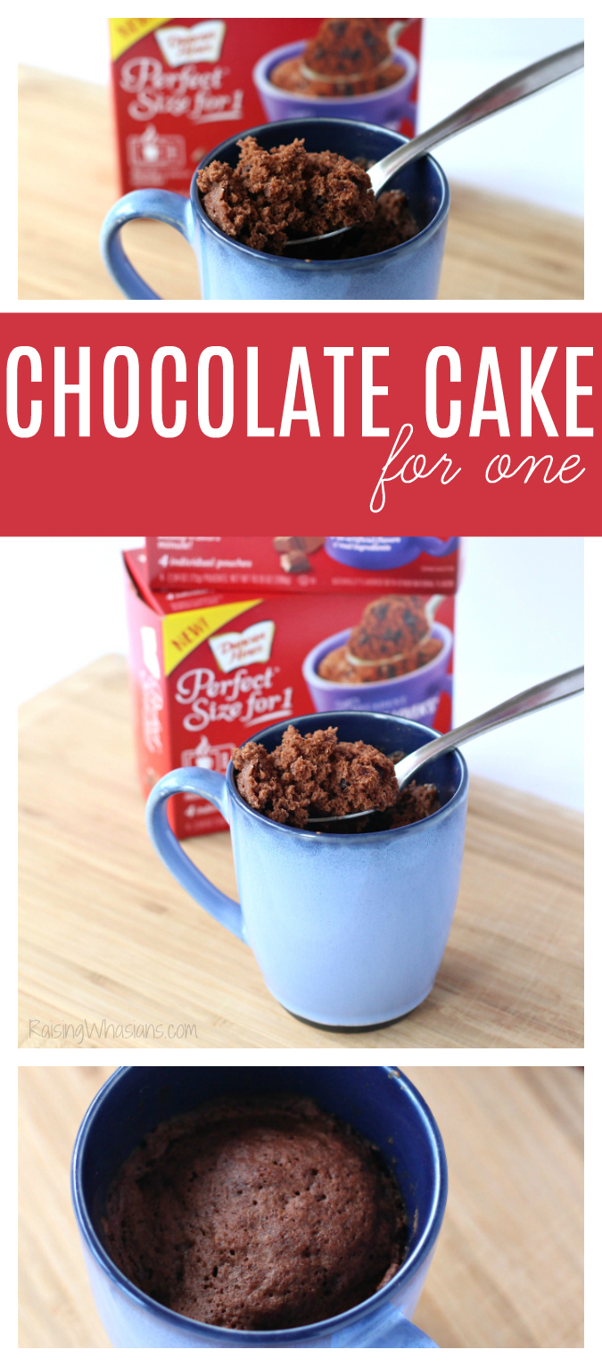 Easy chocolate cake for one