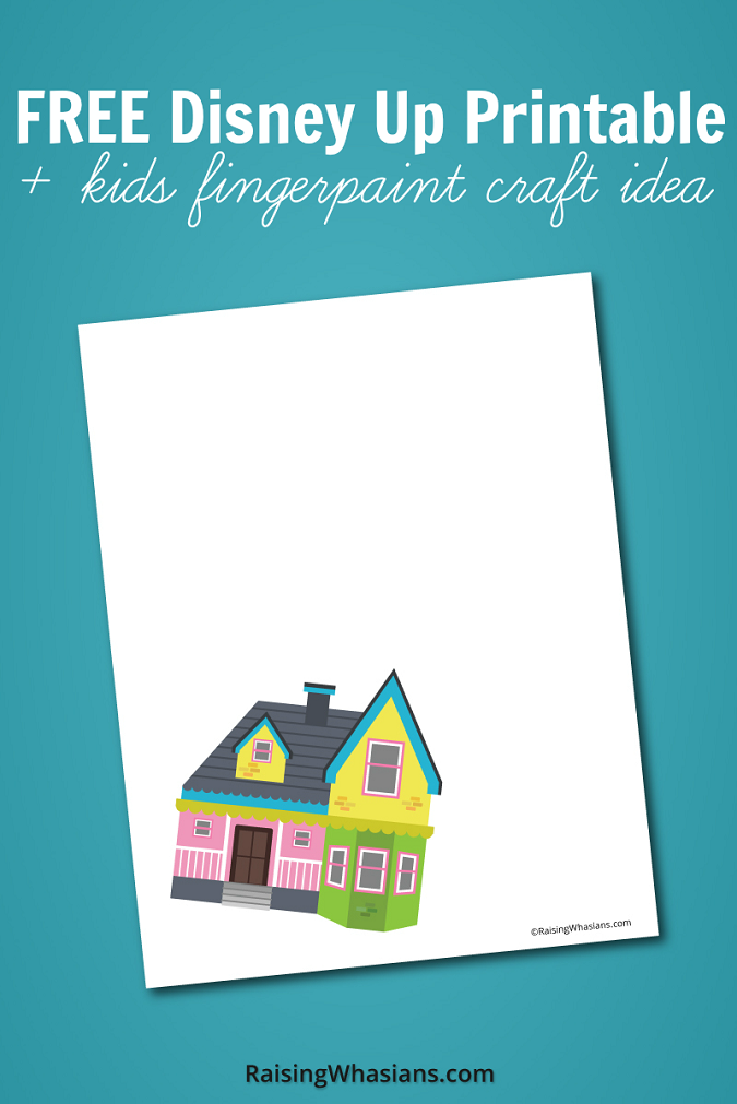 Free Disney up printable kids craft