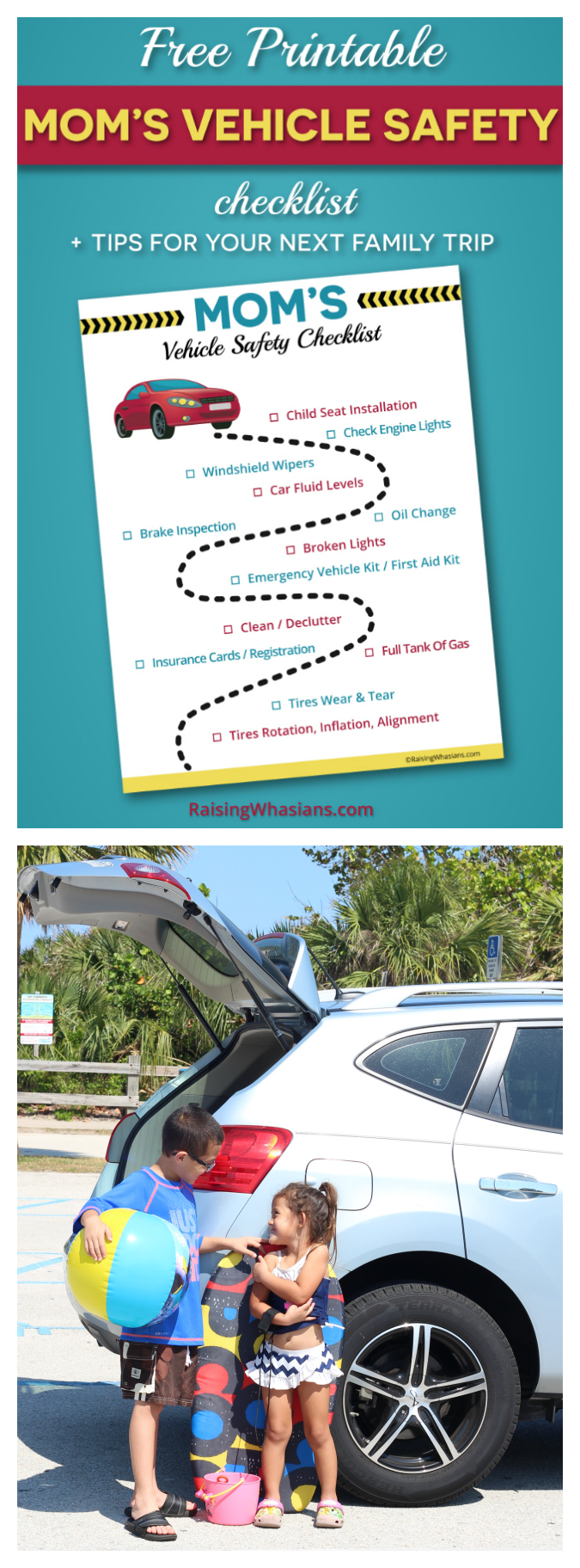 Free vehicle safety checklist printable pinterest