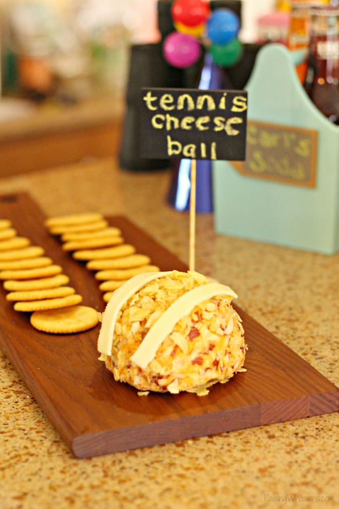 Tennis ball cheese ball