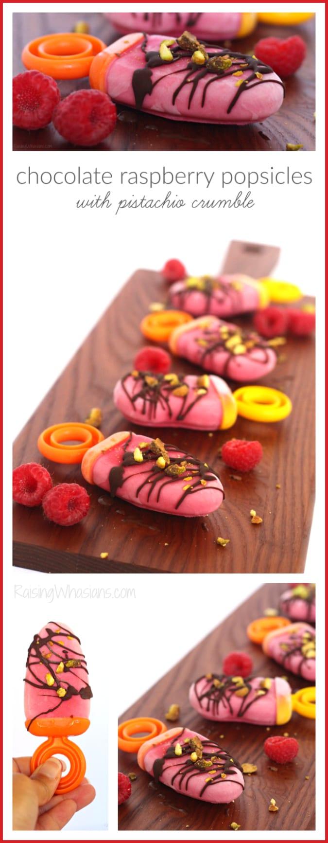 Chocolate raspberry popsicles pinterest