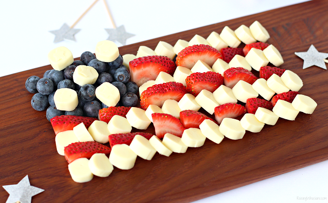 Fourth of july cheese platter kid approved