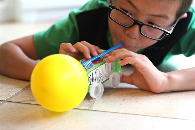Juice box balloon car craft for kids