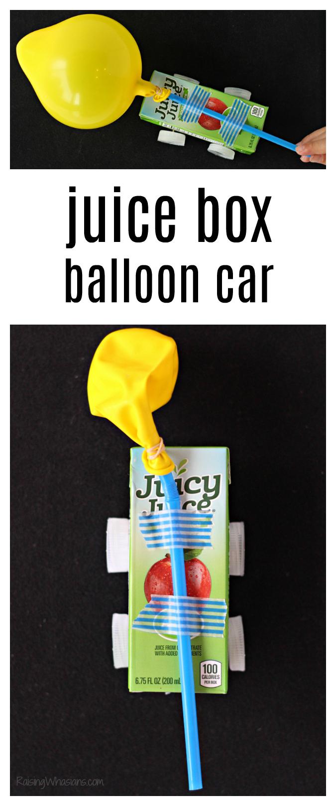 Juice box balloon car craft