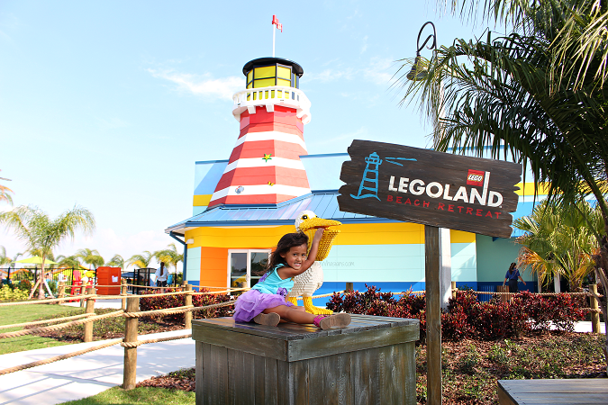 Legoland beach retreat lighthouse