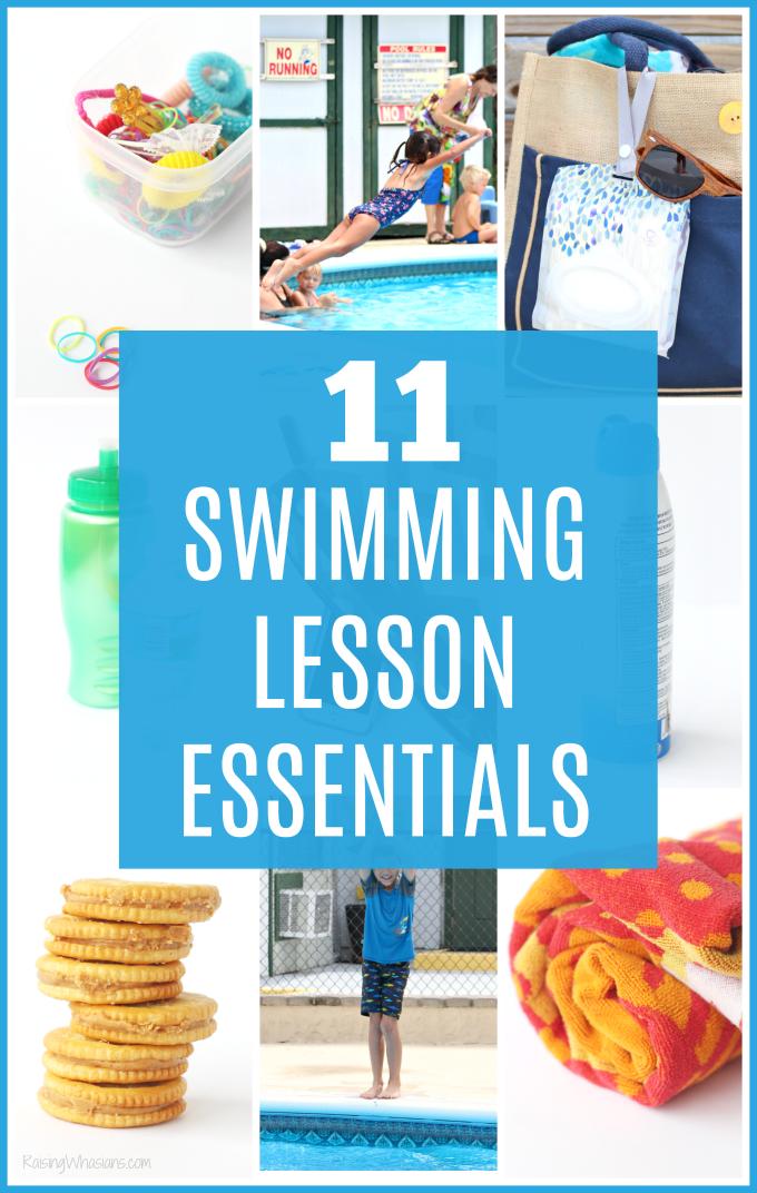 Swimming lesson essentials