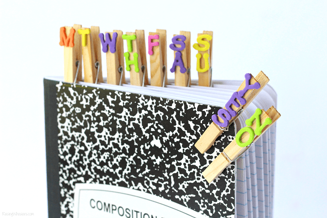 Back-to-school hack clothespins