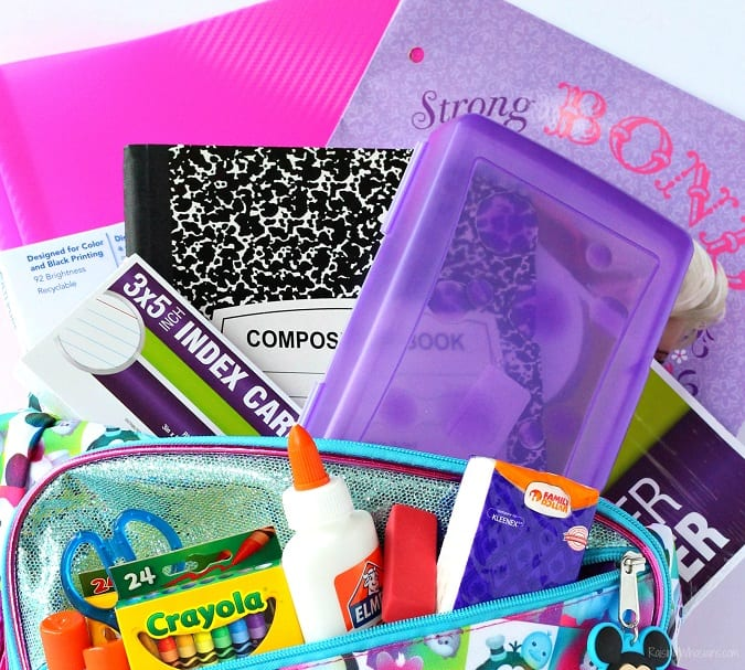 Back to school savings dollar store