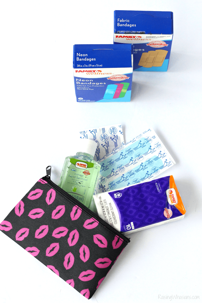 DIY first aid kit dollar store
