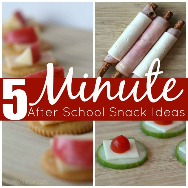 Easy after school snack ideas made in 5 minutes for Easy after school snacks for kids to make