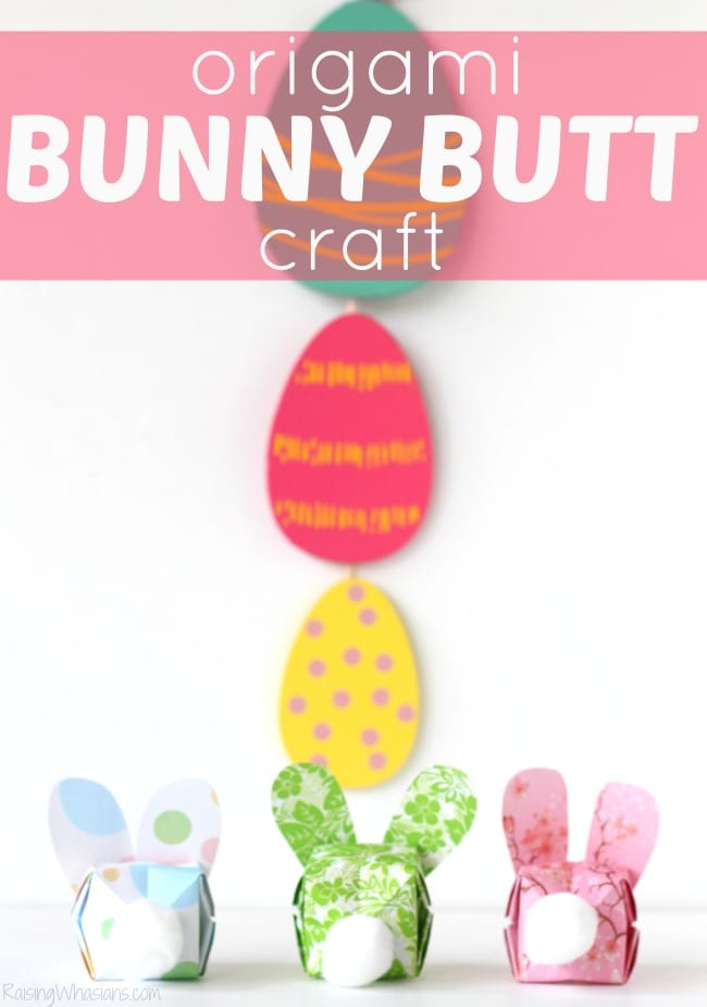 Easy Origami Bunny Butt Easter Craft