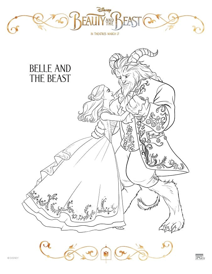 beauty and the beast coloring pages 2017 FREE Disney Beauty and The Beast Coloring Sheets #BeOurGuestEvent  beauty and the beast coloring pages 2017