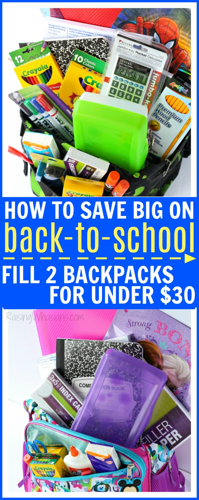 How to save big on back-to-school fill backpacks pinterest