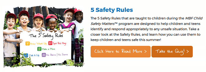MBF summer safety quiz