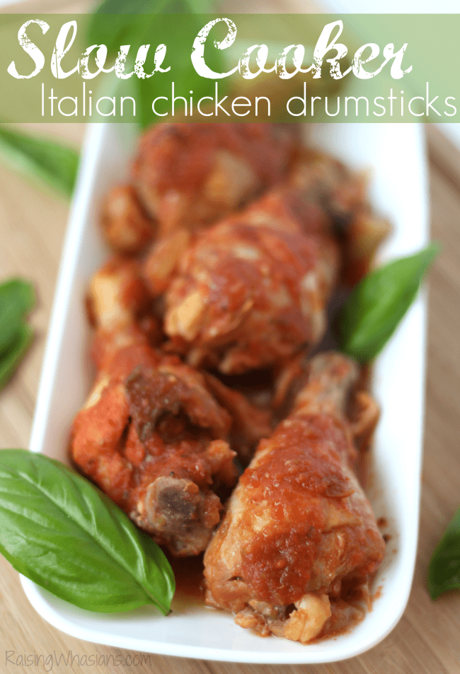 Easy Slow Cooker Chicken Drumsticks Italian Style