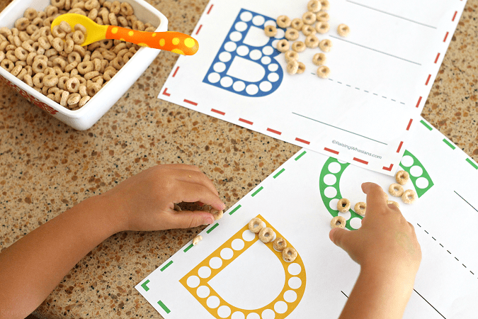 Free do a dot abc worksheets