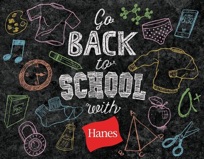 Hanes back-to-school essentials giveaway