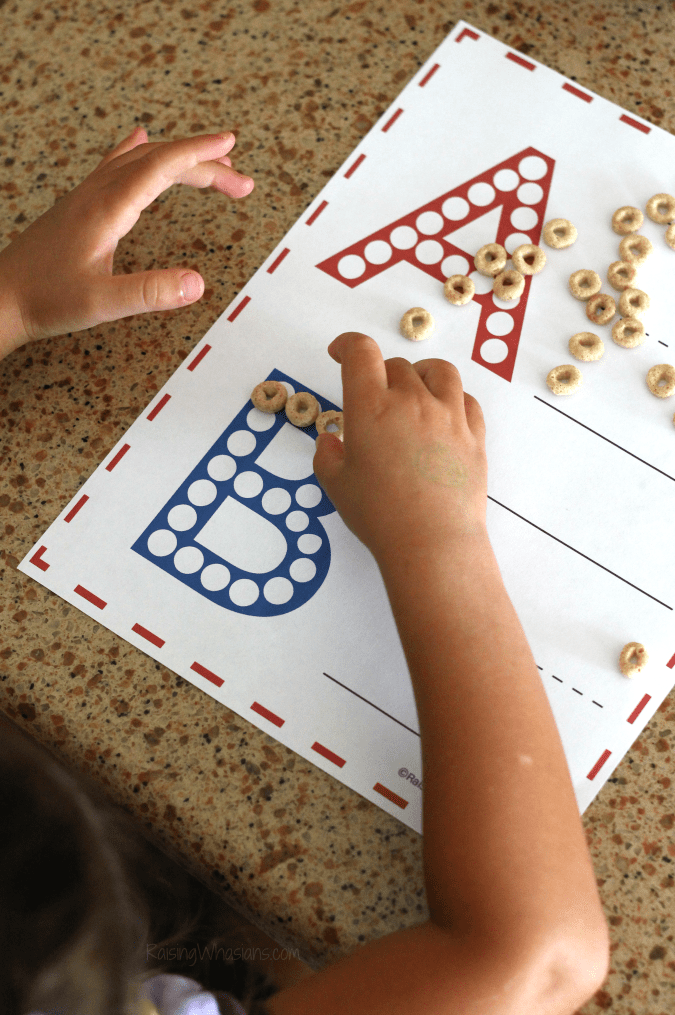 Printable abc worksheet for preschoolers