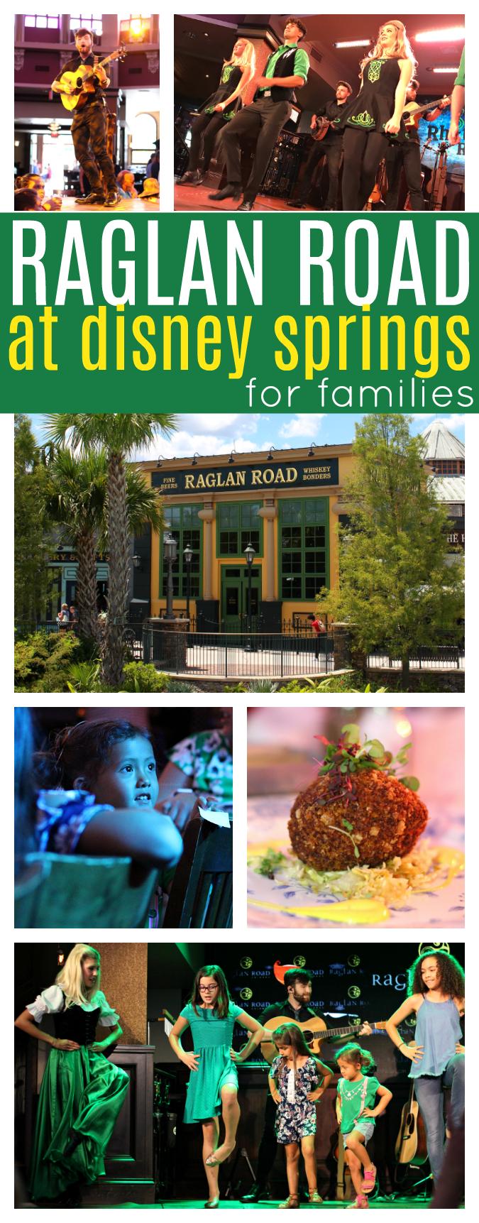 Raglan road at Disney springs for families
