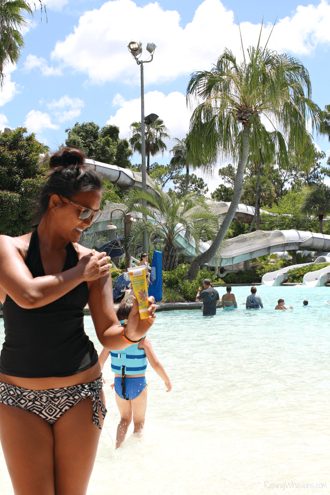 Water park sunscreen tips