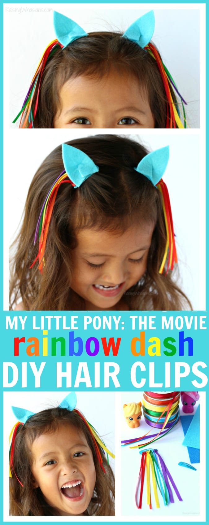 DIY my little pony hair clip pinterest