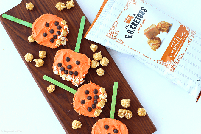 Fall popcorn snack for kids