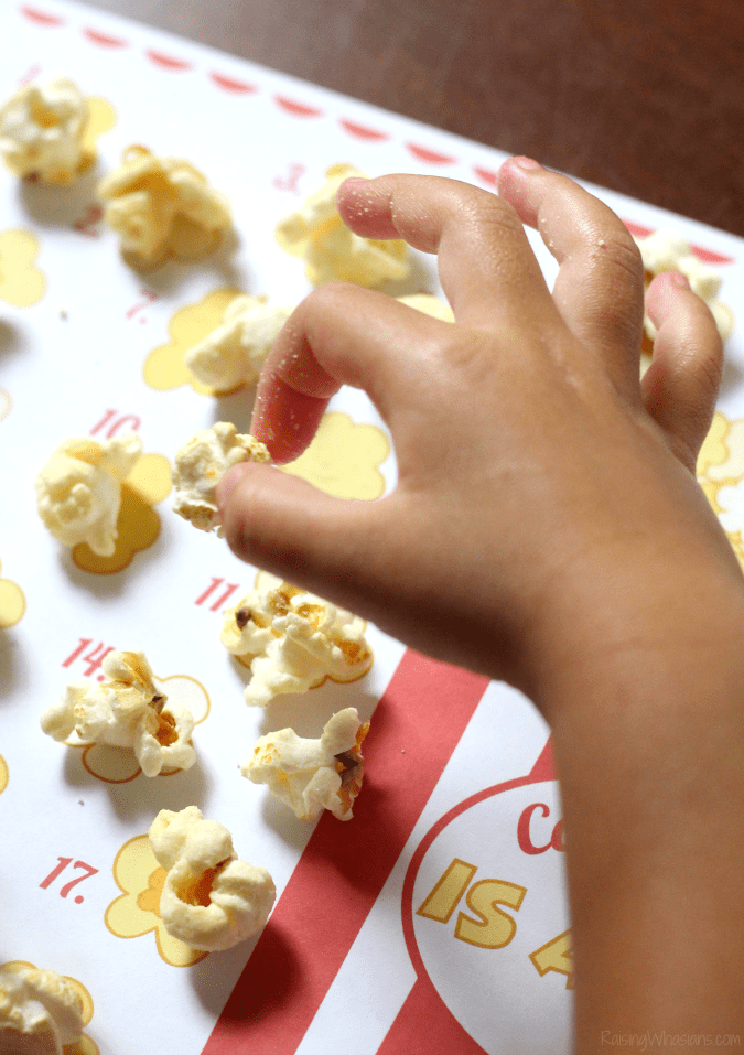 Popcorn counting worksheet