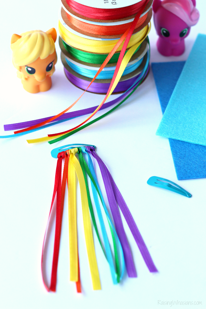 Rainbow dash hair clip diy