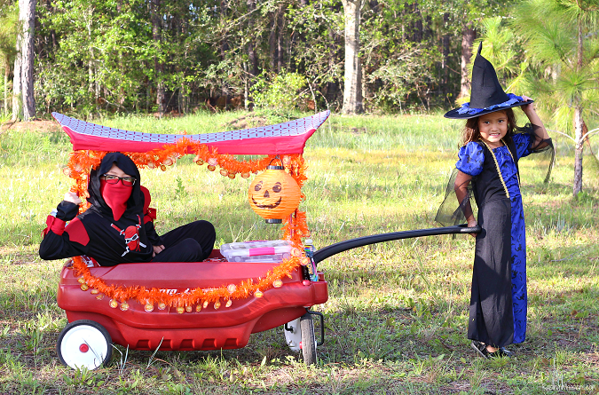DIY trick or treat wagon ideas