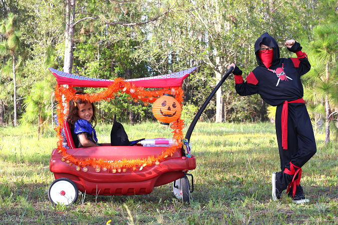 DIY trick-or-treat wagon