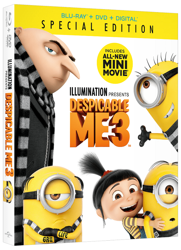 Despicable me 3 dvd features